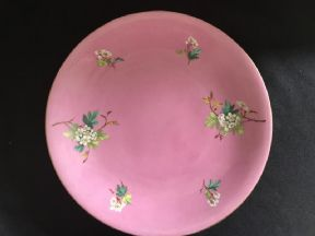 CAREWORN Victorian serving plate - Bright pink /floral